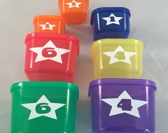 21 Day Fix Daily Allowance Star LABELS For Portion Control Containers