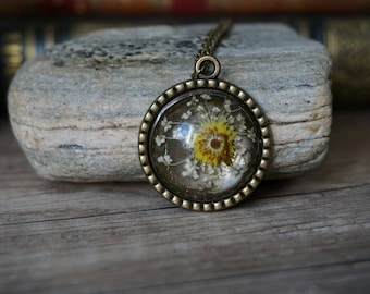 "Necklace ""yellow flower"""