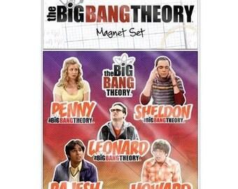 The Big Bang Theory Magnet Set  Refrigerator Magnets  Collectible