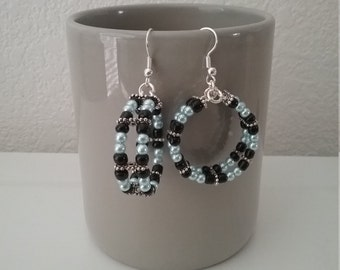 Dual Hoop Beaded Earrings