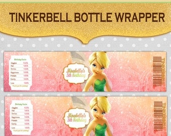 Tinkerbell Water Bottle Wrapper Label