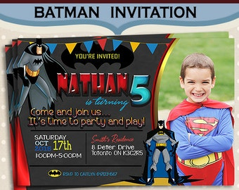 Batman Birthday Invitation