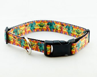 "Monsters Inc. Dog Collar (1"" width) - Large - Extra Large"
