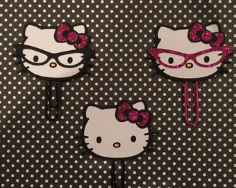 Hello Kitty Face Planner Clips