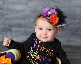 Halloween baby Headband ,Halloween Headband ,Flowers Baby Girl Headband , Newborn Headband ,Baby Girl Headband ,Baby Headband