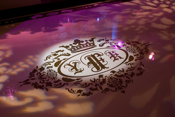 Custom Dance Floor Monogram Decals