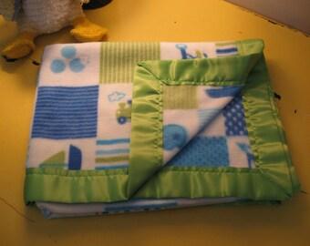 Soft Fleece Baby Blanket Beautiful Bright Colors