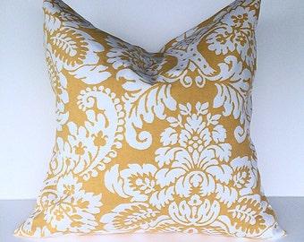 Throw pillow accent pillow cover gold pillow cover decorative throw pillow cover gold and white throw pillow cover home decor pillow cover