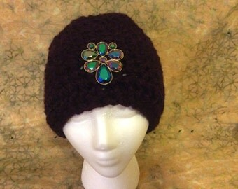 Purple womans hat with bling