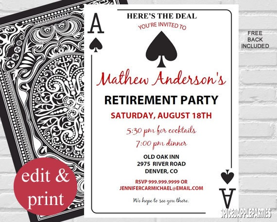 Retirement Invitation | Retiring Invitation, Retirement