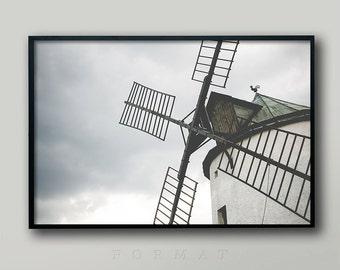VINTAGE WINDMILL, Netherlands, Holland Windmills, Dutch Windmill, British Windmill, Old Windmill, Living Room Decor, Fine Art, Retro Decor