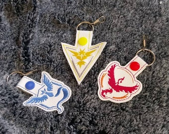 Pokemon Embroidered keyrings