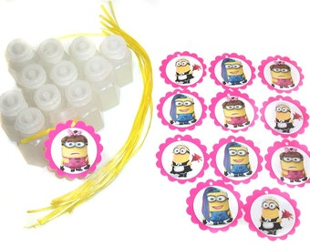 Girl Minion Party Favor Bubbles - 1 Dozen