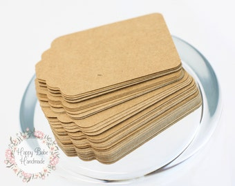 Kraft Paper Tags, Gift Tags, 2--1/4 by 1--1/2 Inches, Paper Tags, Die Cut Tags, Kraft Tags, Rustic Wedding, Favor Tags, Wedding Decor