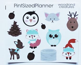 DS1- WOODLAND CREATURES DECORATIVE Stickers!
