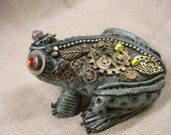 Steampunk Frog One of a Kind
