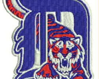 Detroit Tigers Embroidery Design