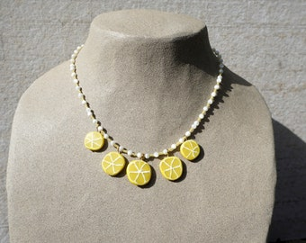 Lemon Wheel Necklace