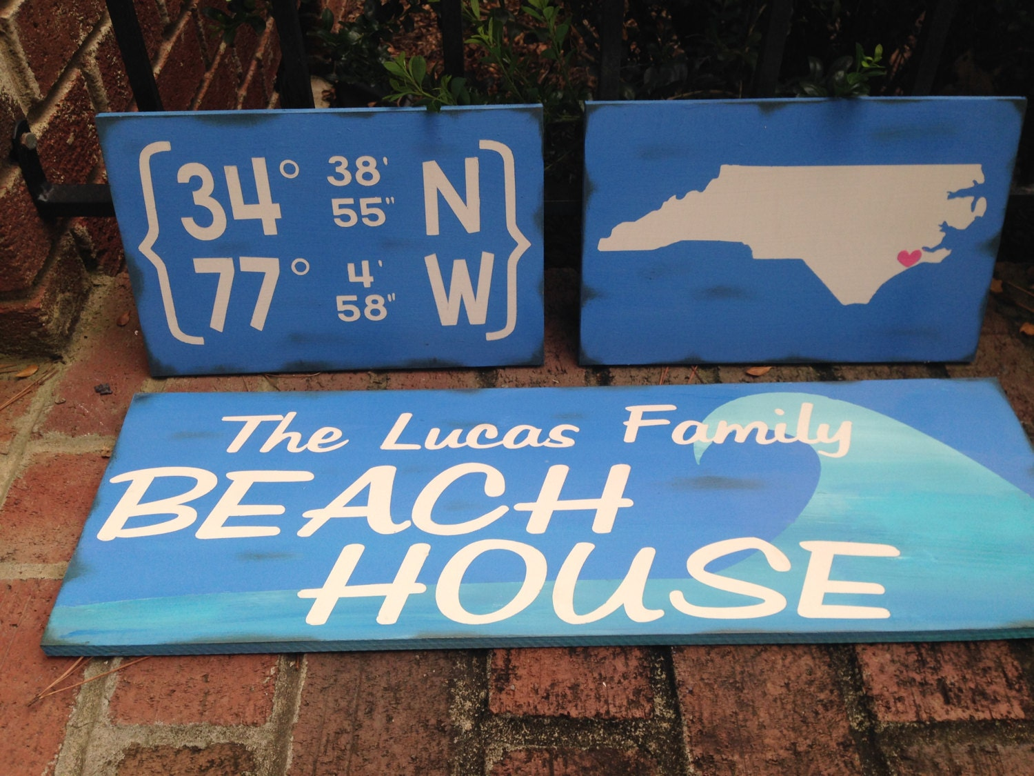 Personalized beach house sign rustic beach house decor beach for Custom beach house