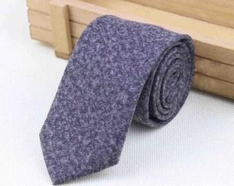 Charcoal skinny Wool Tie
