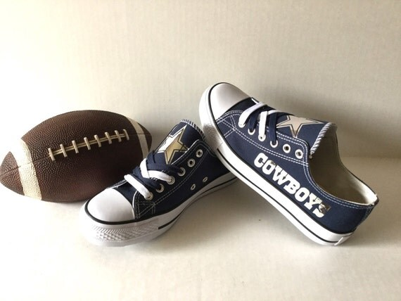 dallas cowboys chrome s athletic shoes by sportzunlimited