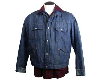 1970s JC Penney Ranch Craft Penn Prest Denim Jacket M/L