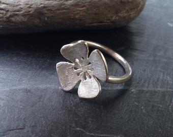 Poppy Silver Ring. Poppy Ring