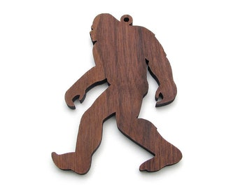 Sasquatch Ornament - Legendary Wood Ornament from Nestled Pines Woodworking