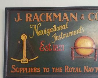 C.A. 1950's Nautical Sign ( J. Rackman & Company )