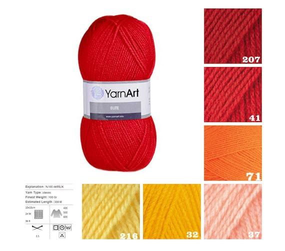 Knitting Pattern Suppliers : YarnArt ELITE knitting supplies red orange yellow pattern