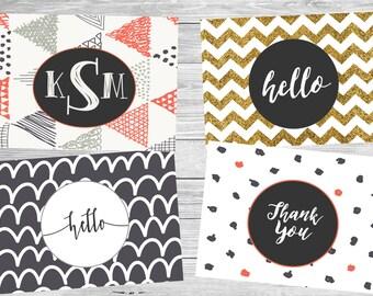 CUSTOM Stationery Fold-Over Cards
