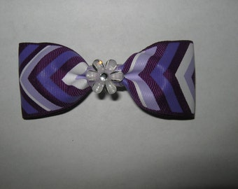 Chevron Bow - Purple Chevron Bow