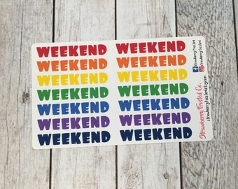 Weekend Banners in Bold- Made to fit Vertical or Horizontal Layout