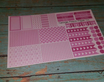 Breast Cancer Themed Planner Stickers- Hope/Love/Courage Themed- Made to fit Vertical Layout