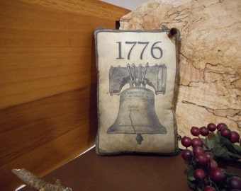 Pillow Tuck: Primitive Rustic Americana Liberty Bell  Pillow Tuck.