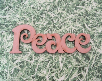 Mini Wooden Peace sign for decorating