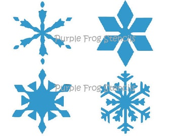 STENCIL Holiday, SnowflakesDifferent Sizes Available All 4 different