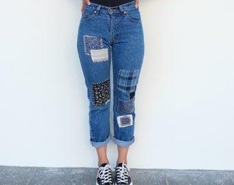 26 W X 28 L - Levi's Patchwork Jeans