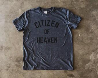 Citizen of Heaven Gray Men's Christian T-Shirt Grey (3 Colors)