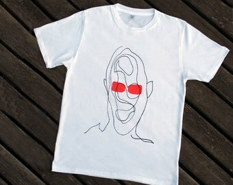 INCOGNITO T-shirt men white organic cotton screenprinted limited edition
