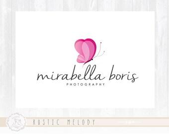 Butterfly Logo Design Boutique Logo Fashion Logo Decor Logo Design Photography Logo Watermark