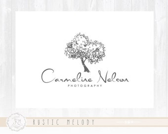 Photography Logo Tree Logo Design Boutique Logo Watercolor Logo Decor Logo Design Watermark