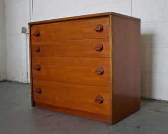 SOLD SOLD Sold!!       Mid Century Retro Danish Style Stag Teak Chest Of Drawers