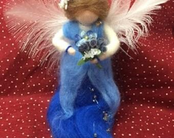 Lovely Blue Wool Fairy