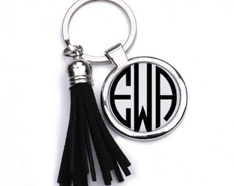 Personalized Tassel Keychain+Gift Idea+Monogramed