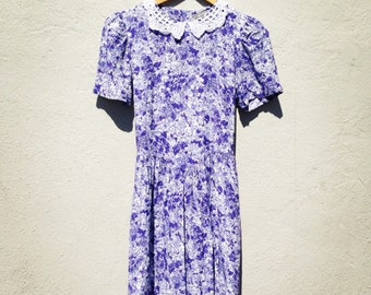 Lavender Lace Collar Dress
