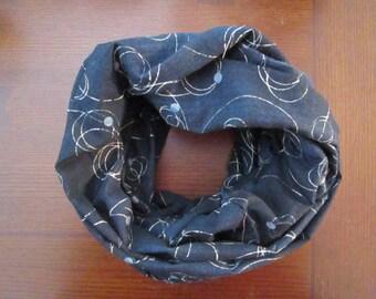 Orbit Medium Sized Cotton Indigo Infinity Scarf
