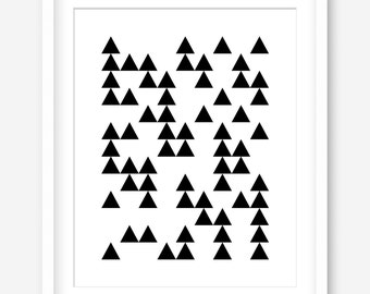 Geometric art - printable minimalist art - black and white art - printable poster - printable modern art - wall print - DIGITAL DOWNLOAD