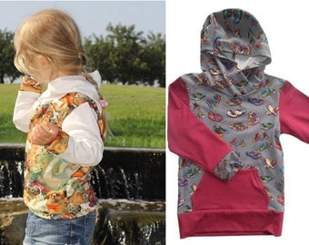 DAVID hoodie, sizes 62-104 (6mo–4/5yr) / INSTANT DOWNLOAD