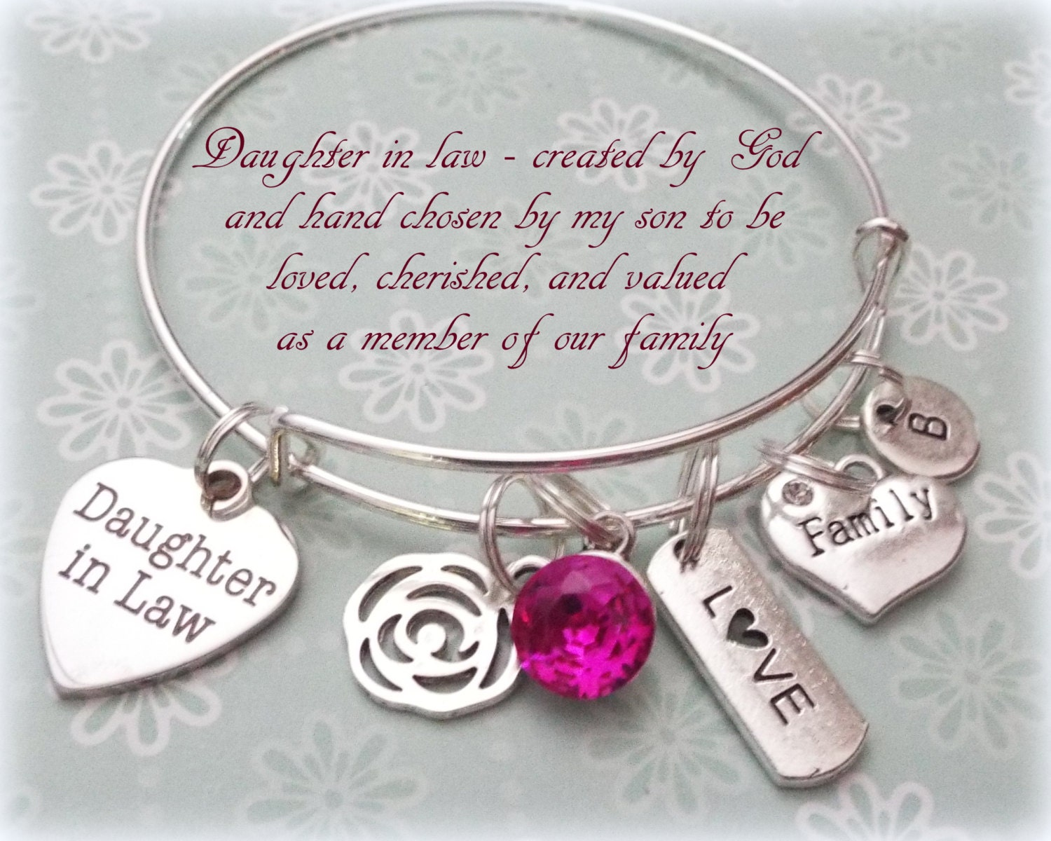Daughter in Law Gift, Wedding Gift for New Daughter, Birthstone ...